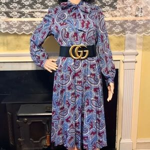 Vintage Paisley Skirt Set